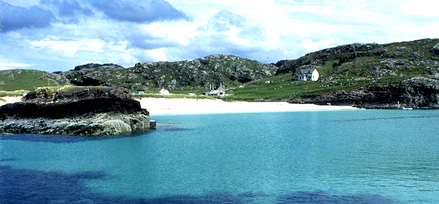 Clachtoll beach from the sea